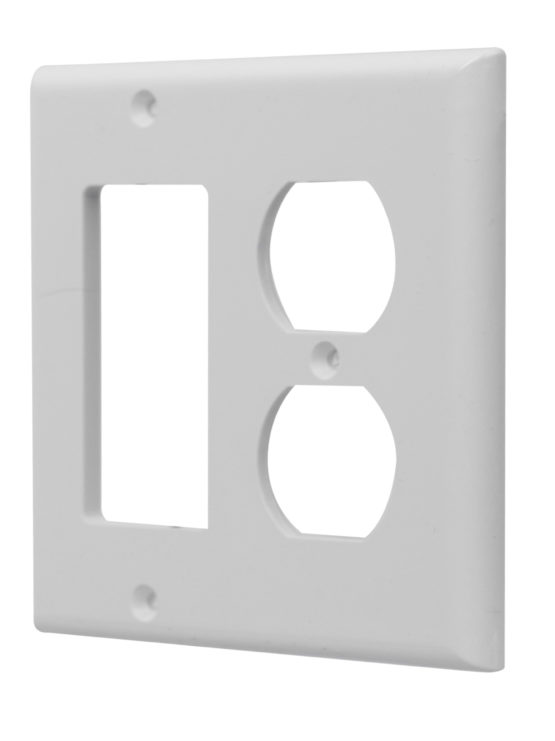 Decorative Wall Plates For Electrical Outlets : Gang duplex outlet decorative combo wall plate