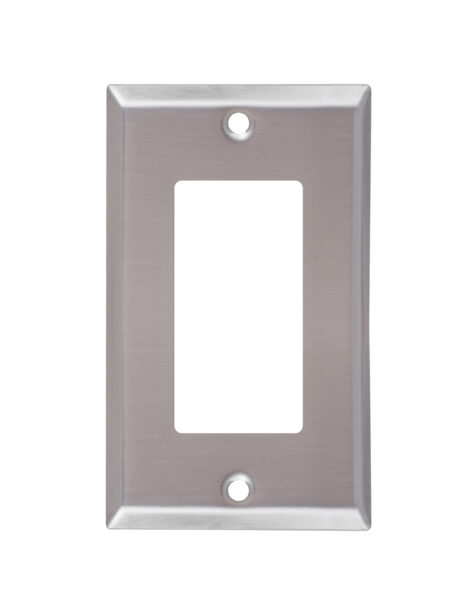 1-Gang Stainless Steel Decorator devices Wall Plate