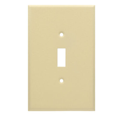 1 Gang Jumbo Wrinkle Metal Toggle Switch Wall Plate