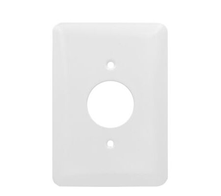 1 Gang MID Smooth Metal Single Receptacle Wall Plate