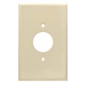 1 Gang Jumbo Smooth Metal Single Receptacle Wall Plate
