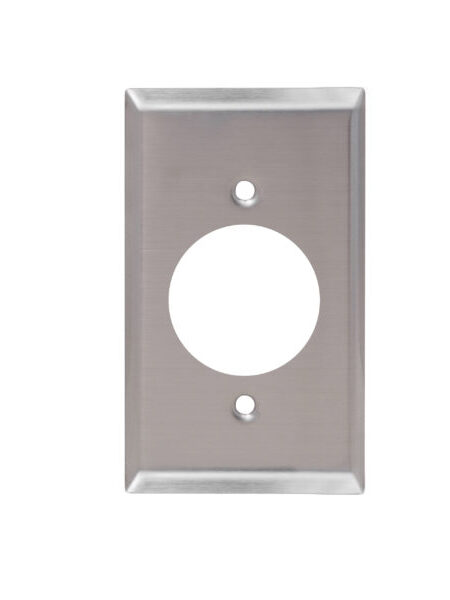 1 Gang  Stainless Steel Single Receptacle Wall Plate