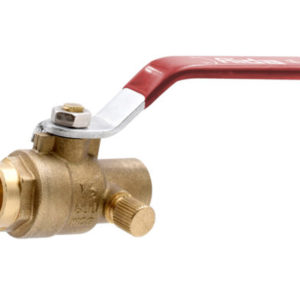 Ball Valve with Drain 1/2 Sweat Lead Free