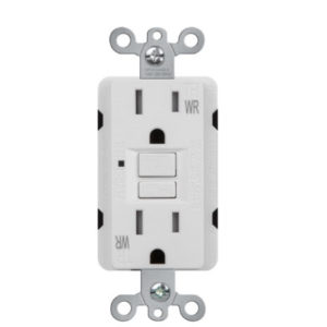 Self-Test Tamper Resistant & Weather Reisistant 15 Amp Duplex GFCI Receptacle with LED Light