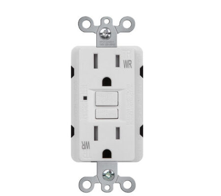 Self-Test Tamper Resistant & Weather Resistant 15 Amp Duplex GFCI Receptacle with LED Light