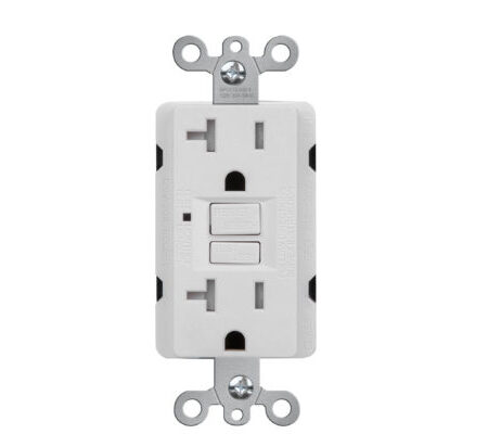 Self Test TR 20 AMP GFCI  Receptacle with Led Light-WH