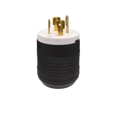 20 Amp 125/250V Locking Grounding Plug