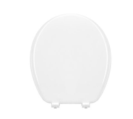 "17"" Rounded Molded MDF Toilet Seat with Plastic Hinge"