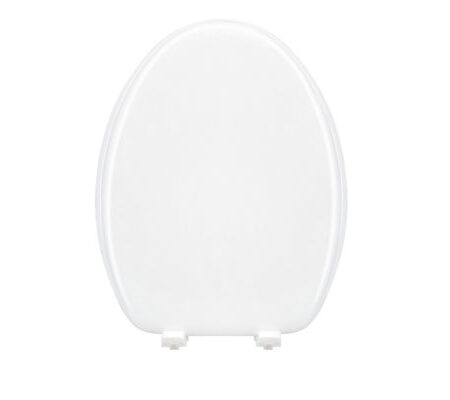 "19"" Elongated Molded MDF Toilet Seat with Plastic Hinge"
