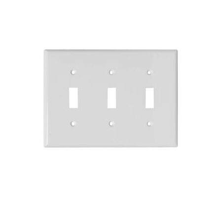 3 Gang Plastic Toggle Switch Wall Plate