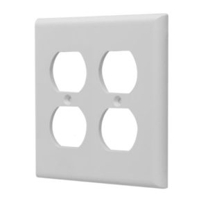 2 Gang Plastic Duplex Receptacle Wall Plate