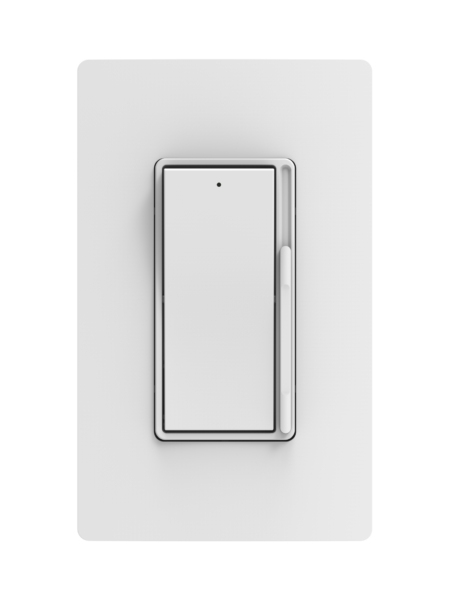 Traditional Rocker Dimmer with Screwless Wall Plate with Border Style